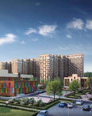 Собственные школа и детский сад на территории квартала