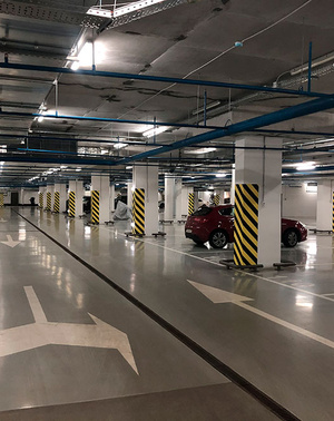 Подземный двухуровневый паркинг